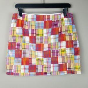 J. Crew Patchwork Plaid Mini Skirt Size 4